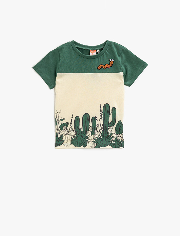 Printed T-Shirt Cotton Crew Neck Short Sleeve