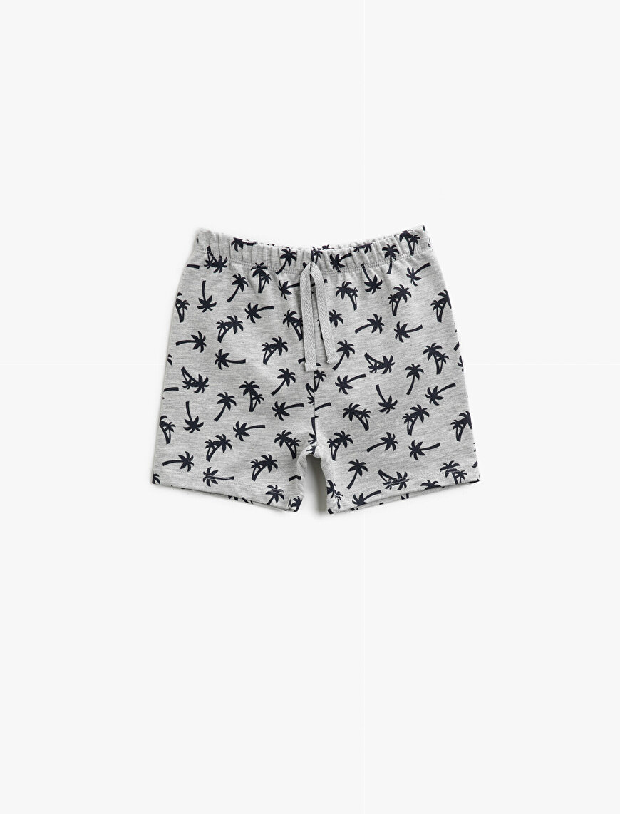 Printed Shorts Drawstring Cotton