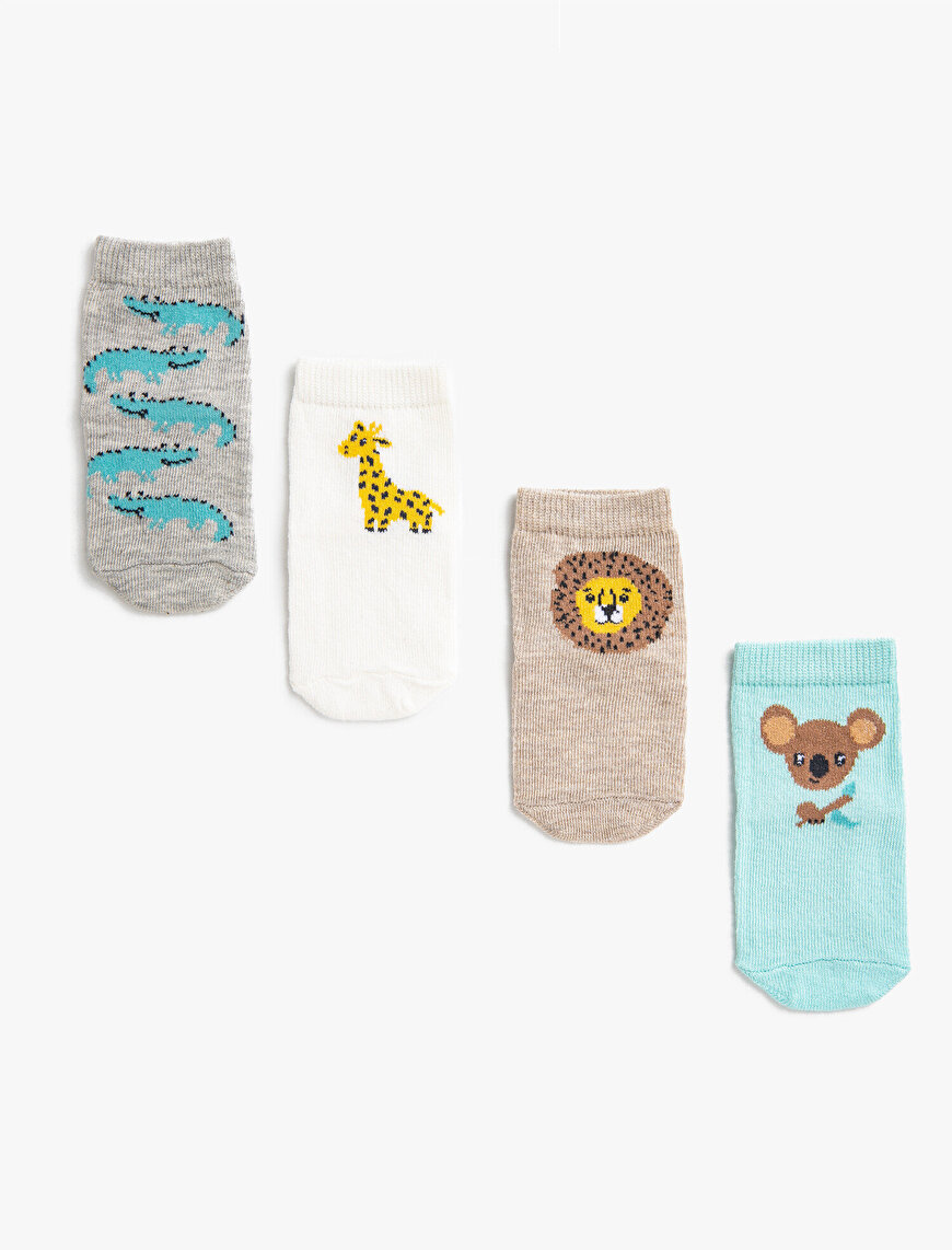 Baby Boy Animal Patterned Socks Set Cotton