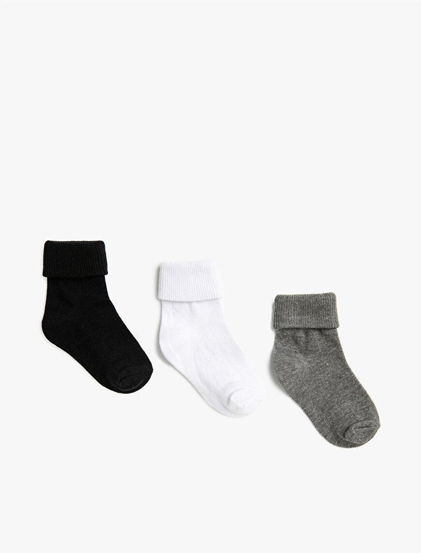 Erkek Bebek Basic Çorap Seti 3'lü Pamuklu