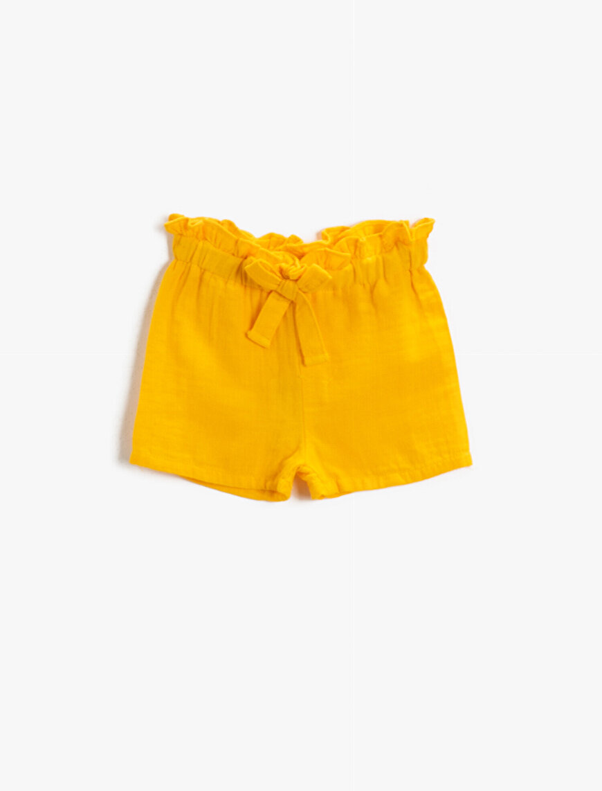 Frilled Shorts Cotton