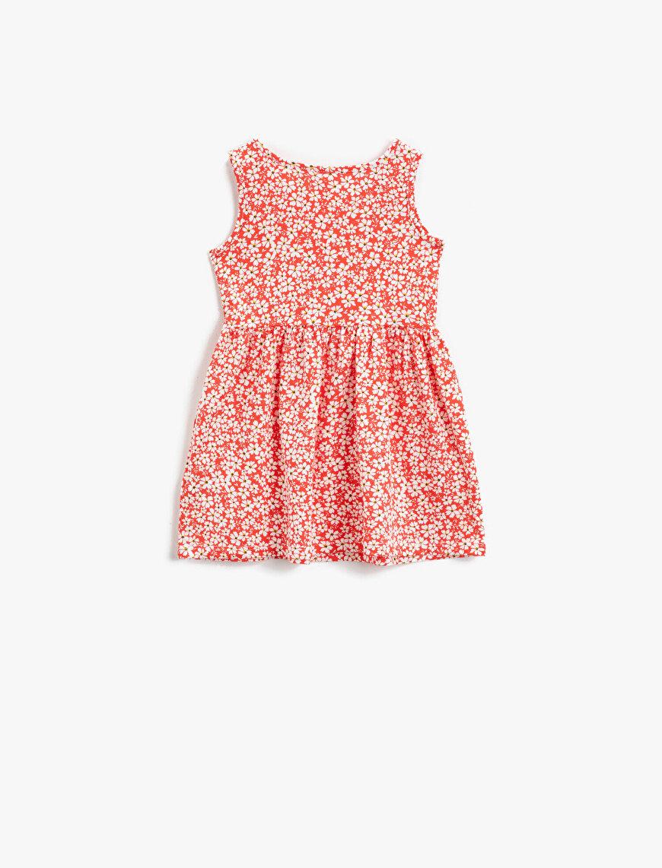 Floral Dress Sleeveless Cotton
