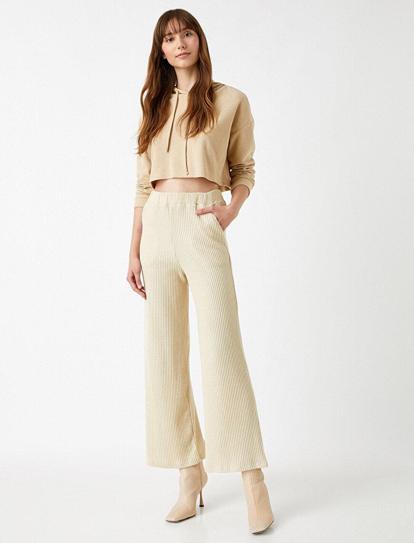 Beli Lastikli Pantolon Rahat Kesim Normal Bel