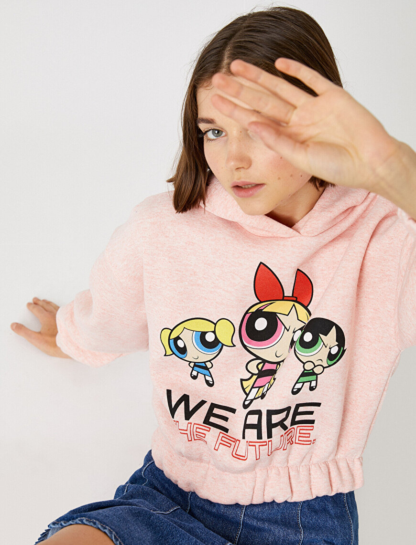 Kapüşonlu Sweatshirt Powerpuff Girls Lisanlı