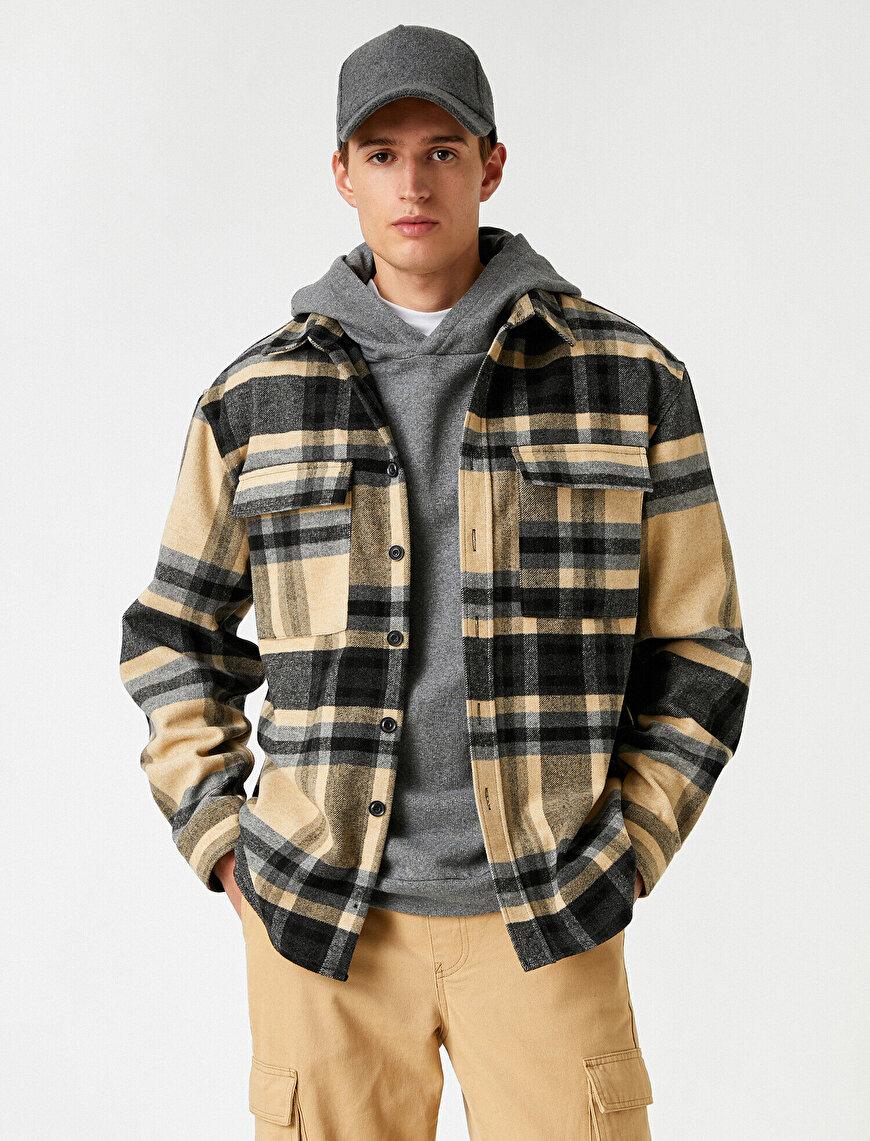 Check Plaid Shirt Jacket