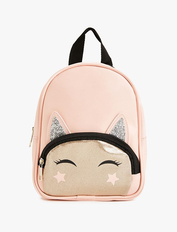 Girl Printed Glitter Detail Backpack