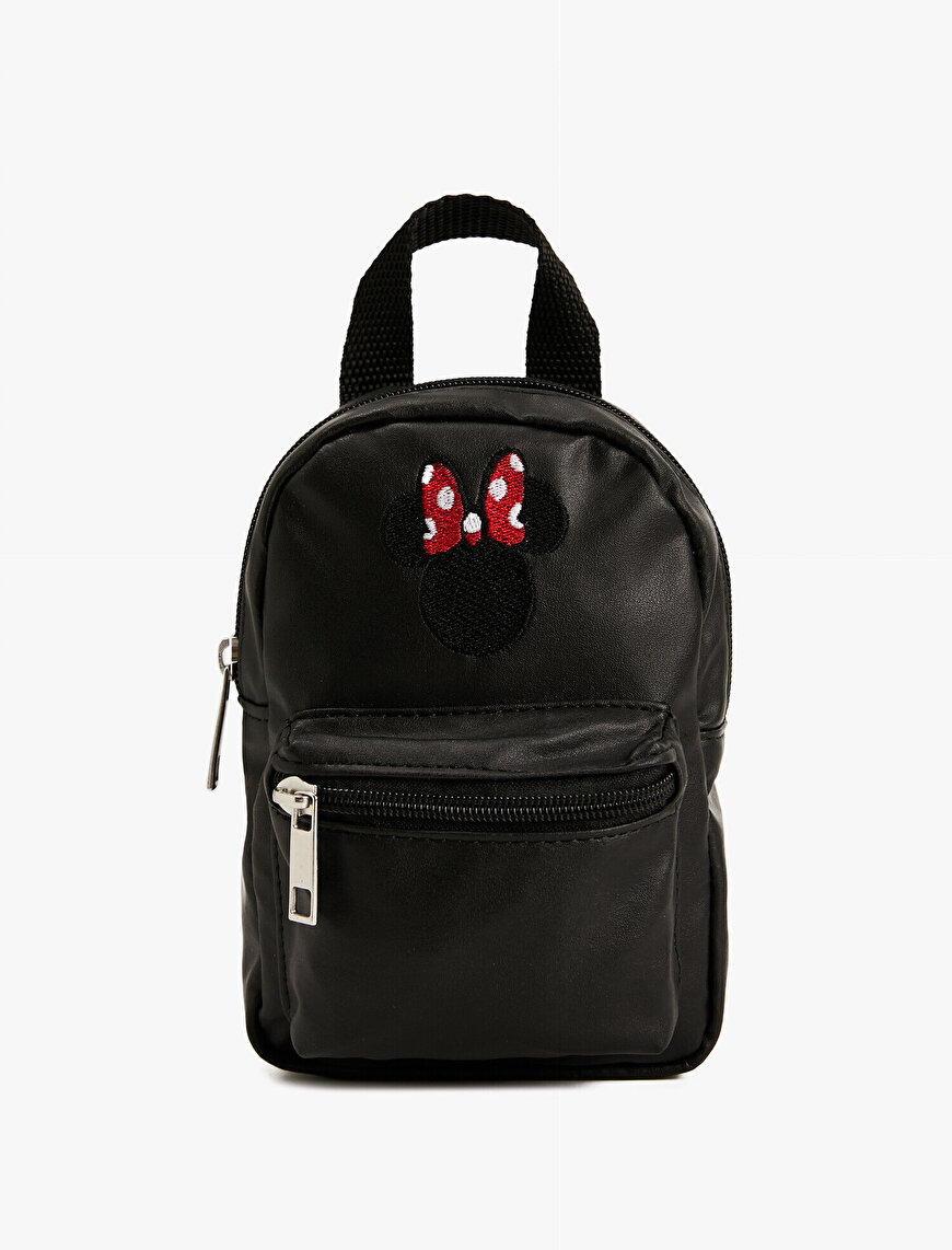 Disney Licensed Minnie Embroidered Backpack