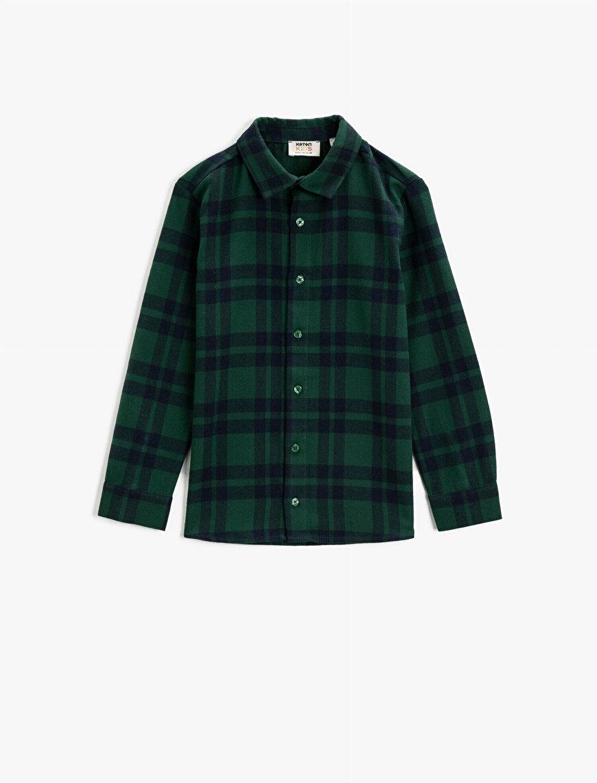 Checked Shirts Regular Collar Long Sleeve