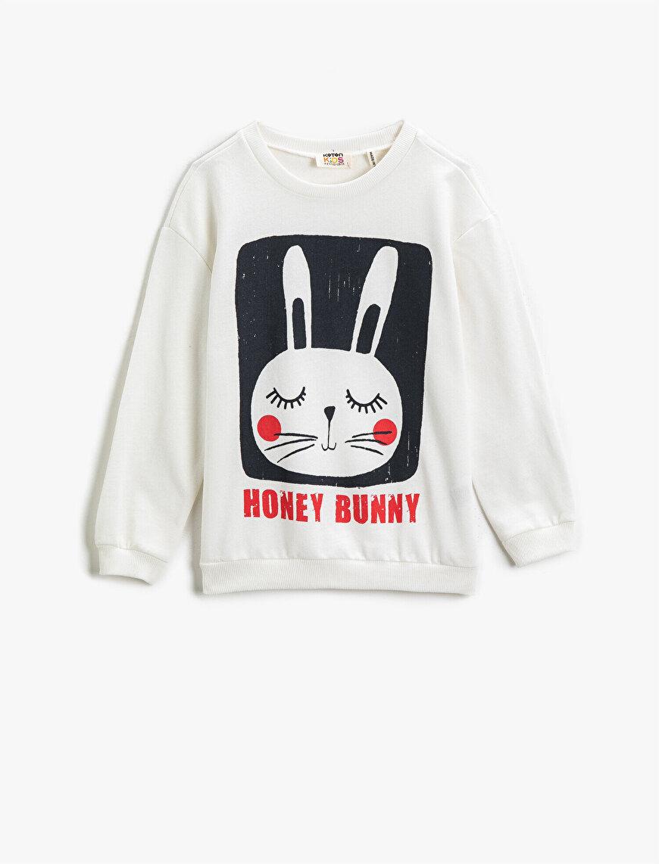 Bunny Printed Sweatshirt Cotton