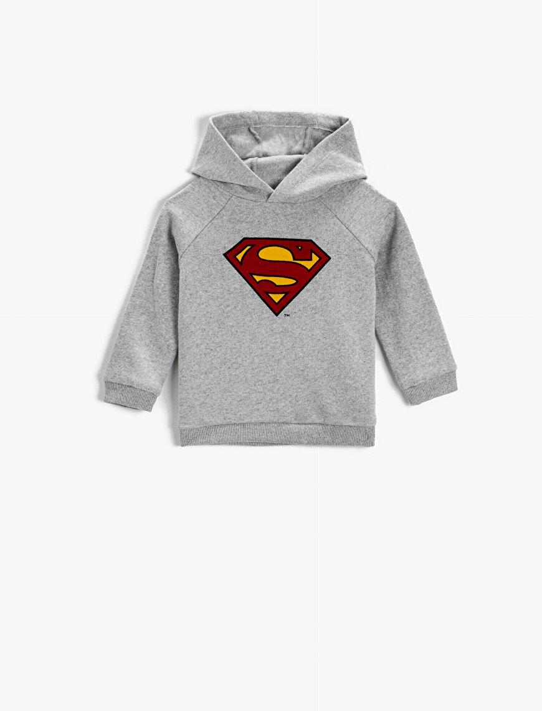 Superman Licensed Printed Hoodie Sweatshirt