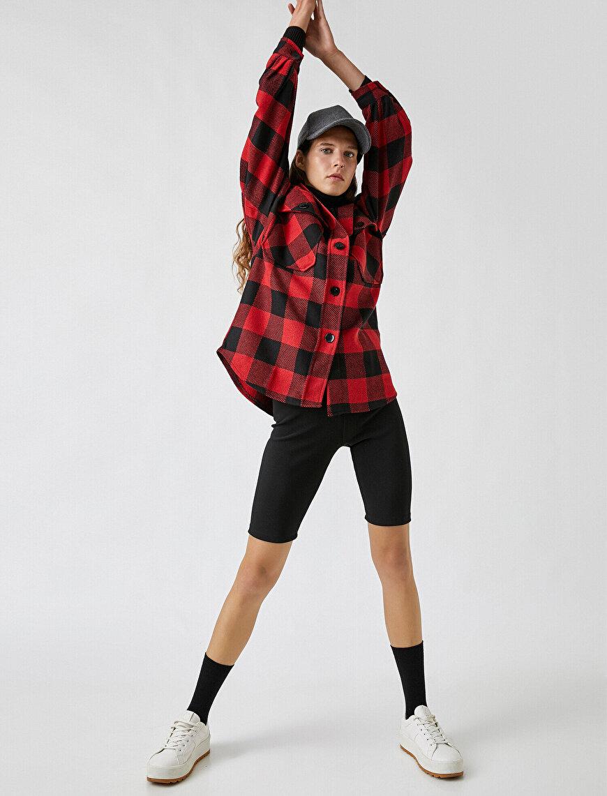 Elastic Waist Short Leggings