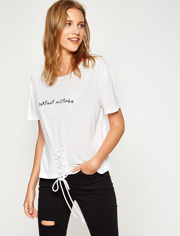 Eyeled Detailed T-Shirt