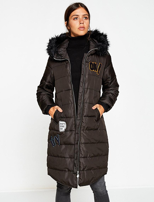 Faur Fux Hooded Coat