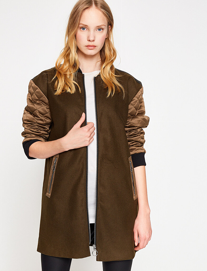 Quilted Detailed Coat