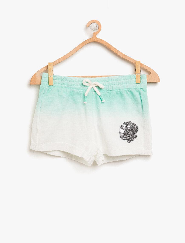 Stamp Embellished Shorts
