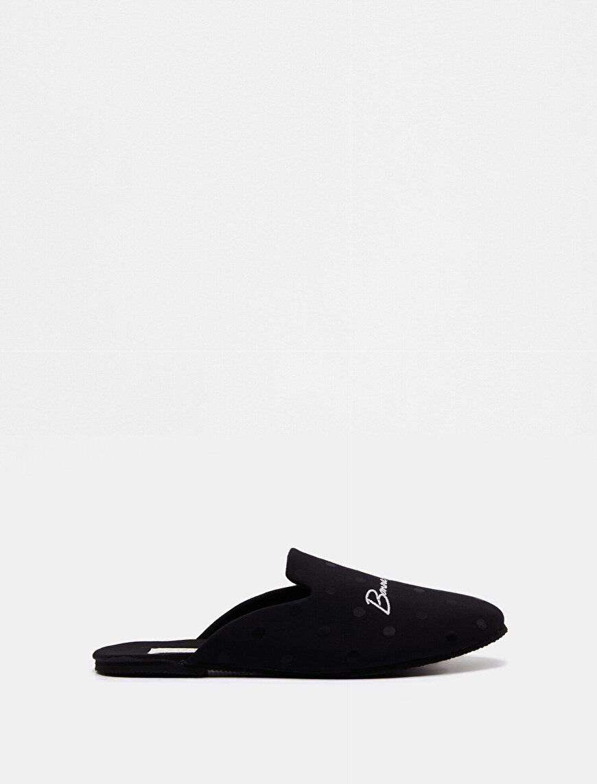 Letter Printed Home Slippers