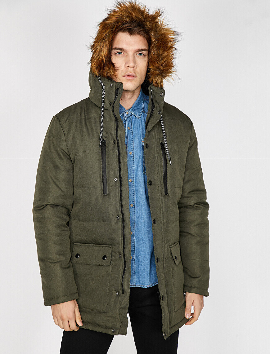 Faur Fux Hooded Coat
