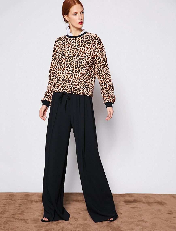Leopard Patterned Sweatshirt