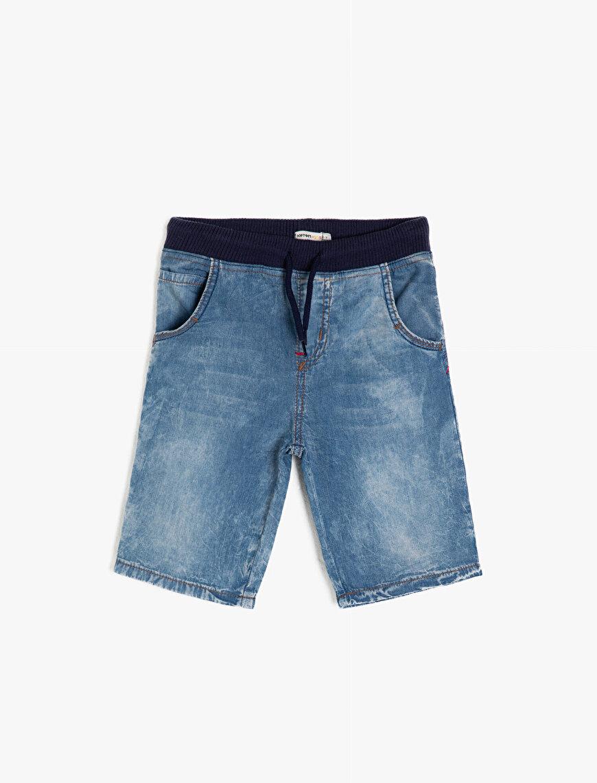 Tie Waist Jean Shorts