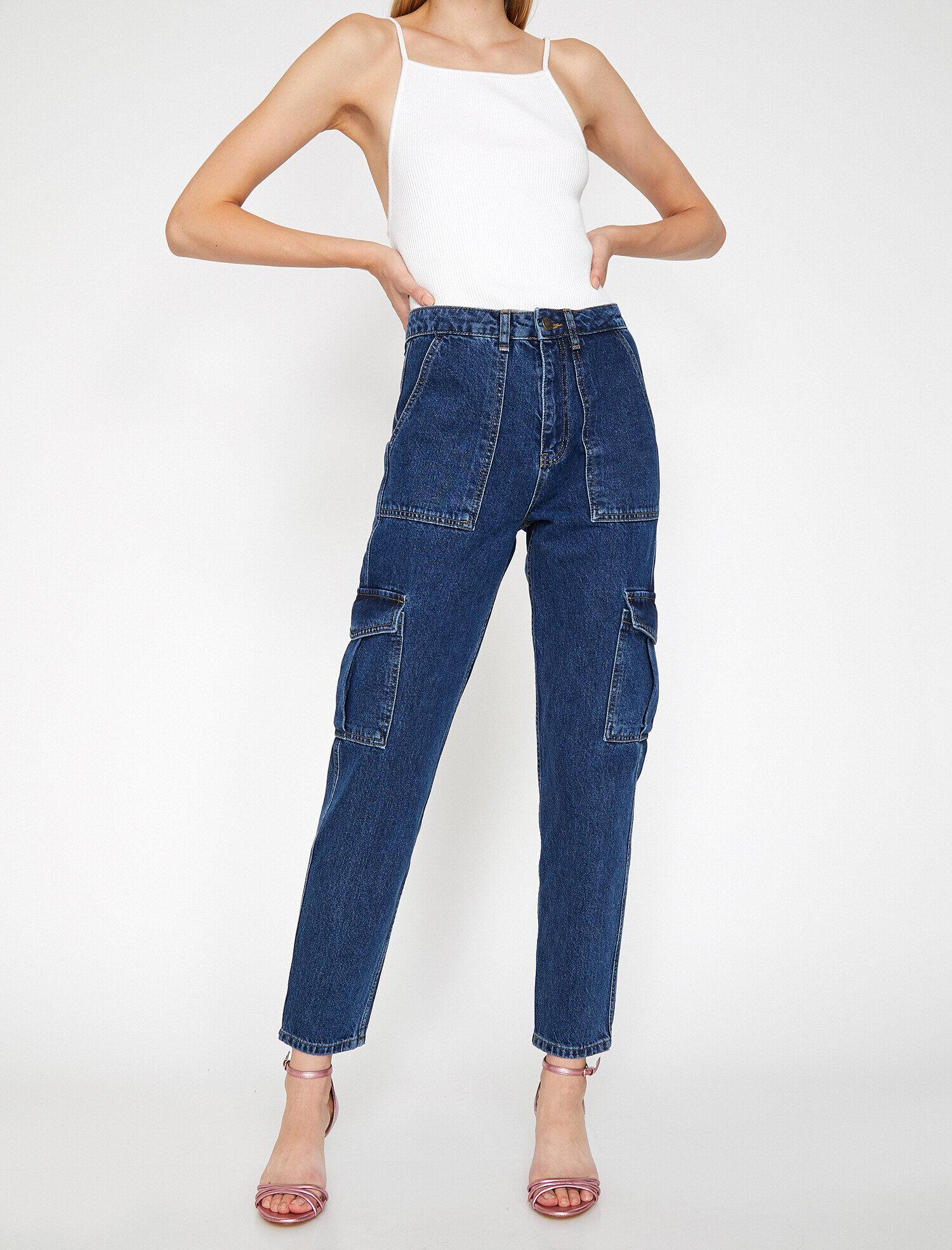 Koton Kadın Mom Jean Cargo Pantolon