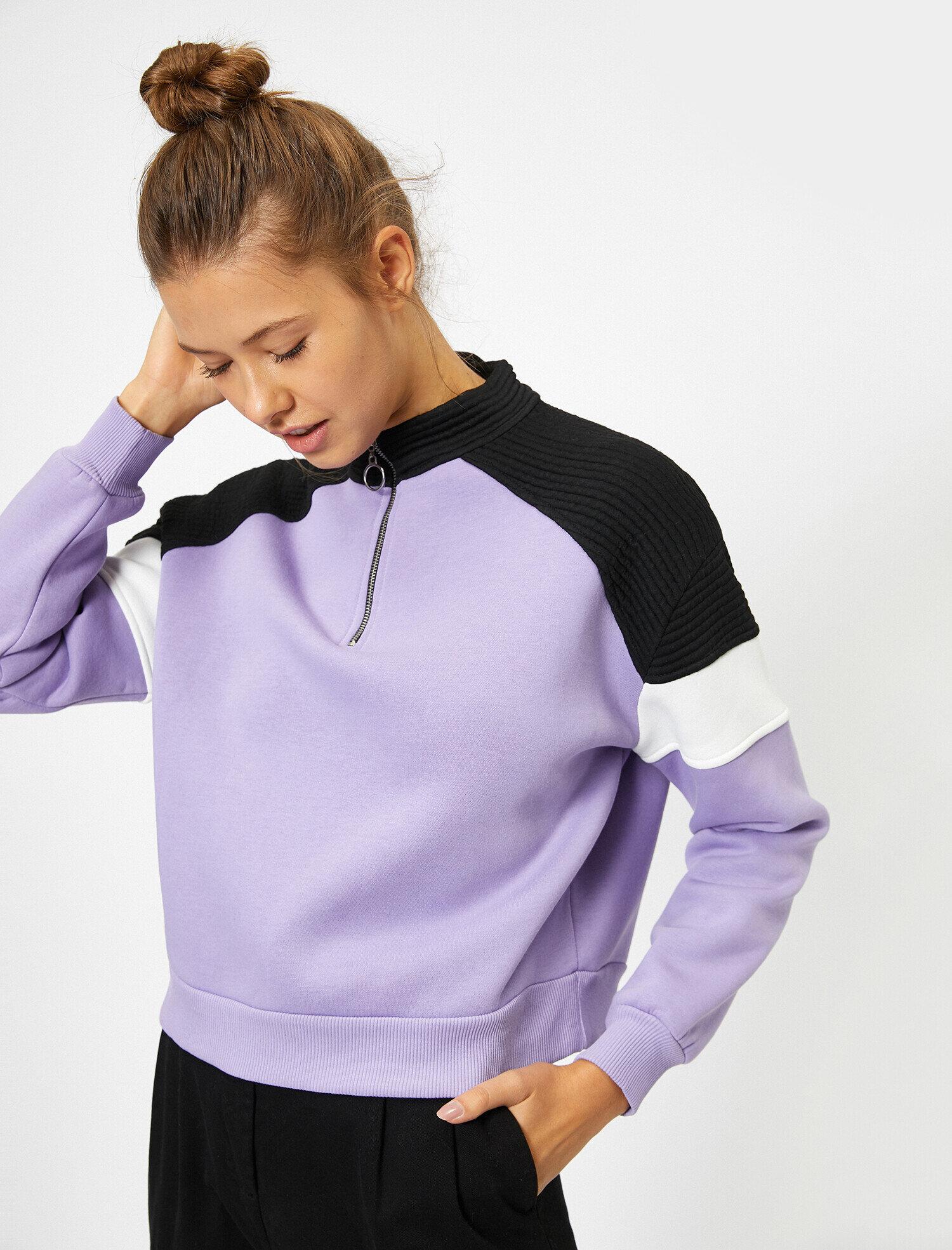 Koton Kadın Fermuar Detayli Sweatshirt