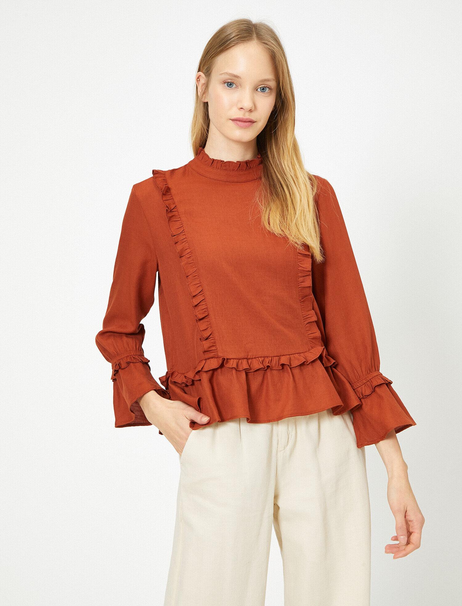 Koton Kadın Firfir Detaylı Bluz