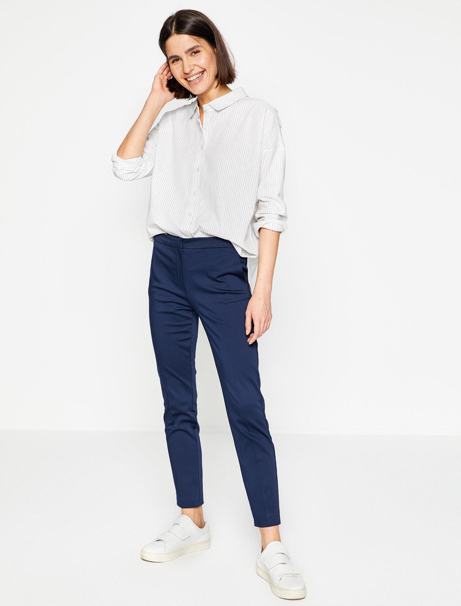 Koton Kadın Rahat Kesim Pantolon Lacivert Ürün Resmi