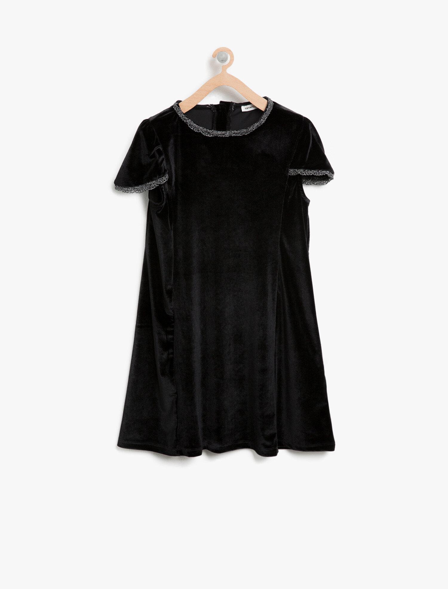 Koton Kiz Çocuk Kadife Elbise