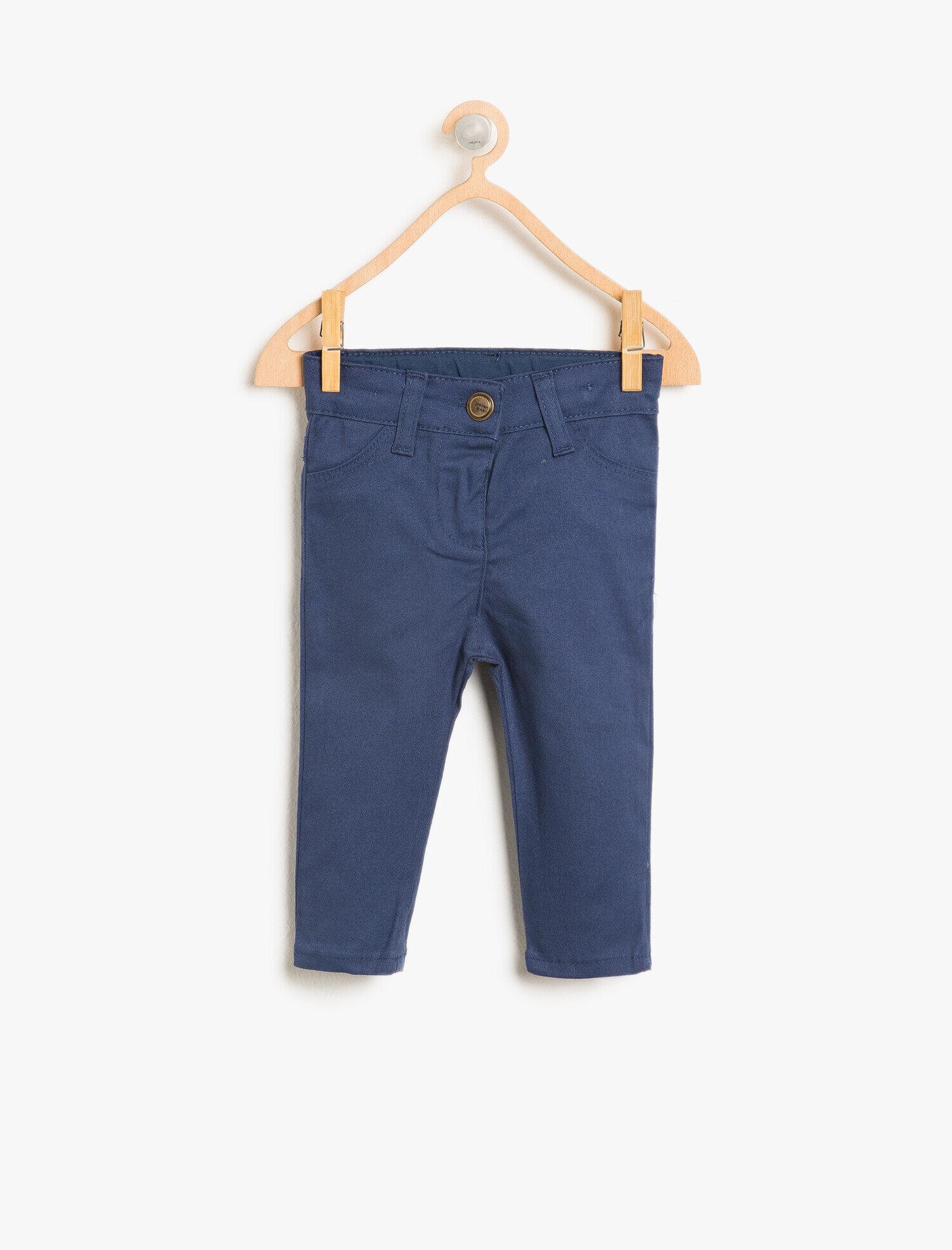 Koton Kız Çocuk Normal Bel Pantolon Lacivert Ürün Resmi