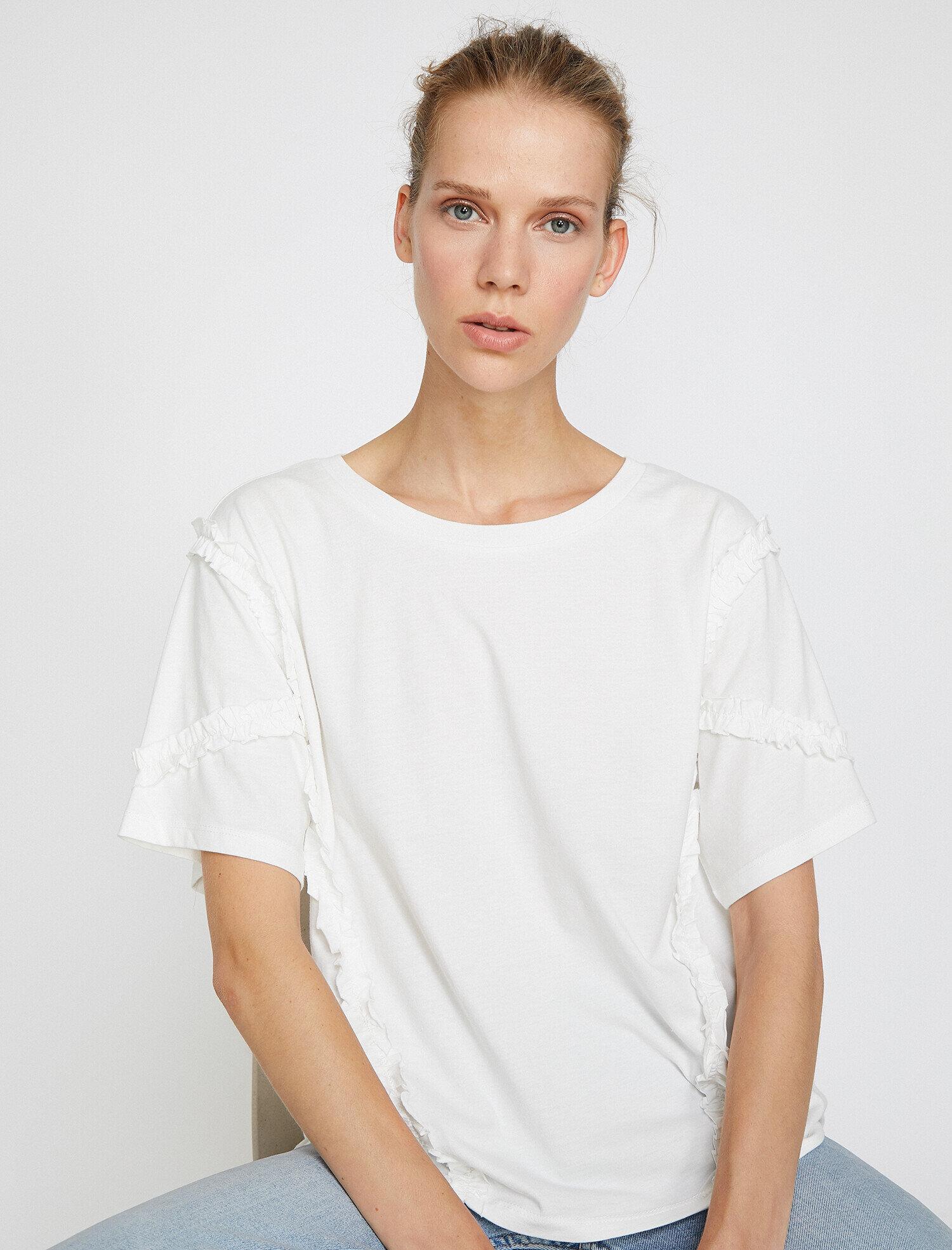 Koton Kadın Firfir Detayli T-Shirt