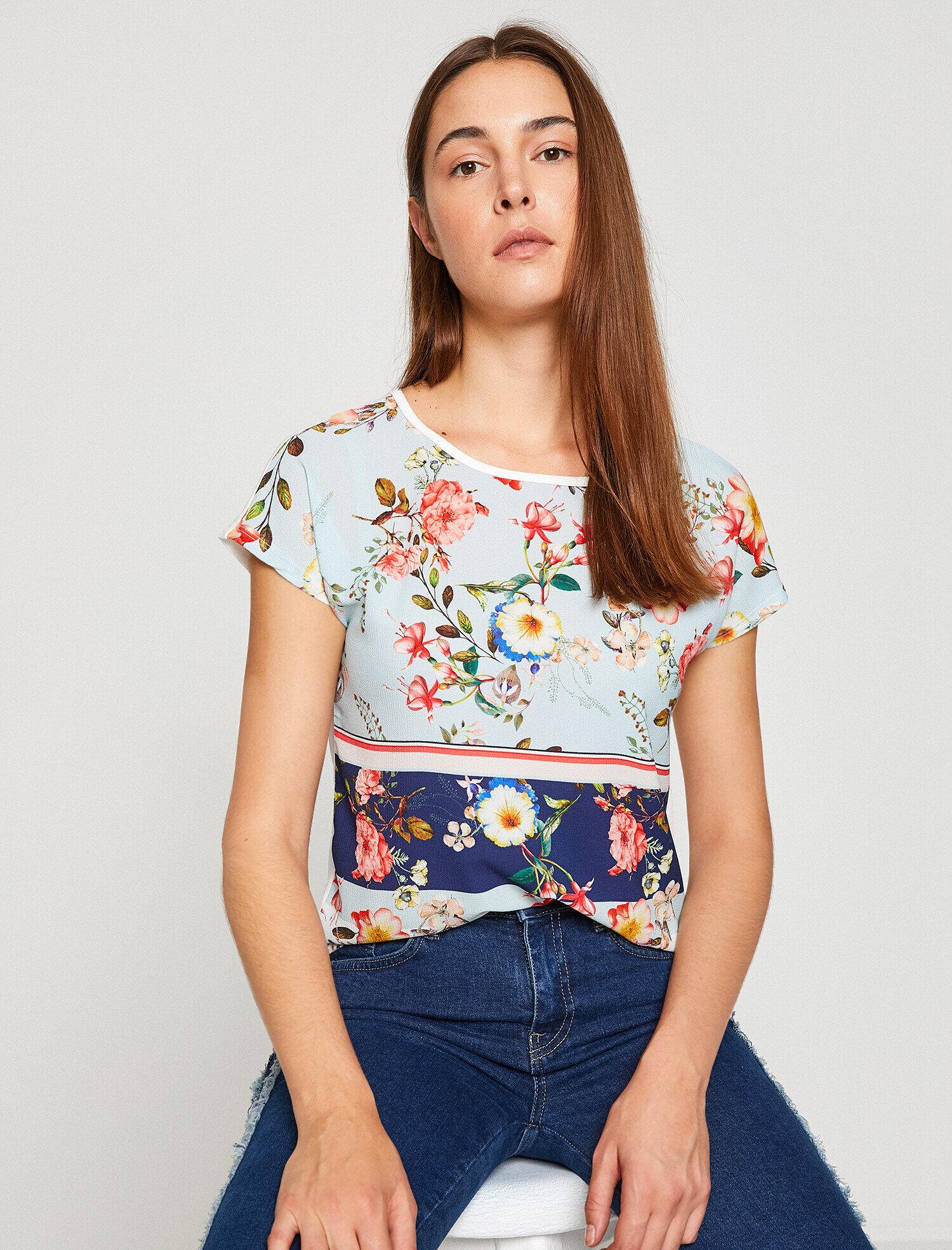Koton Kadın Desenli T-Shirt