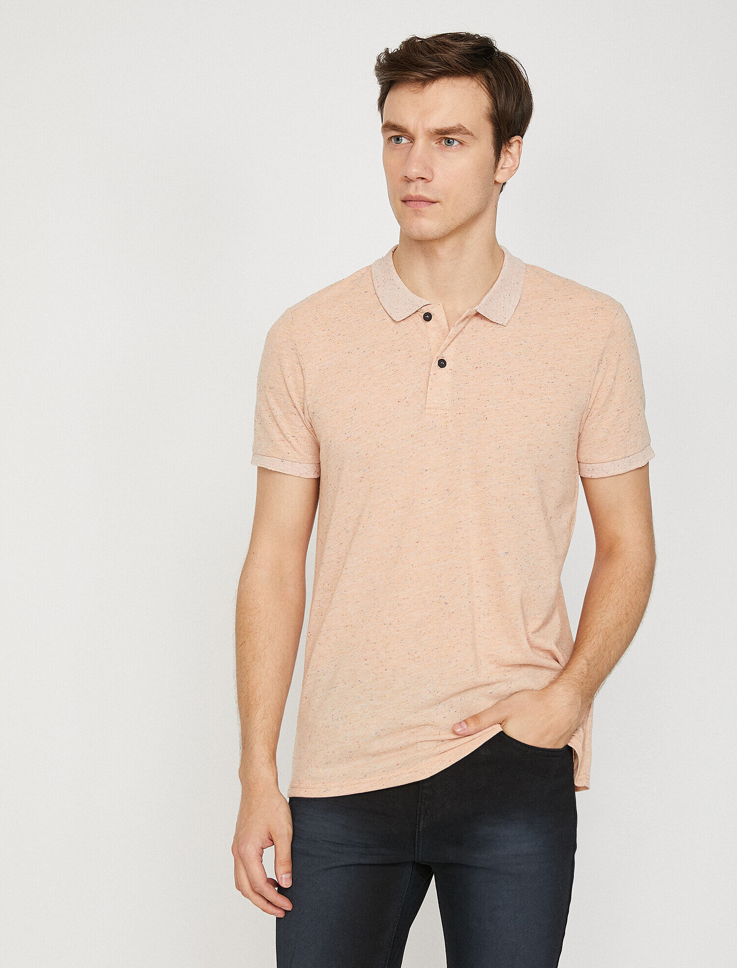 Koton Erkek Polo Yaka T-Shirt Pembe Ürün Resmi