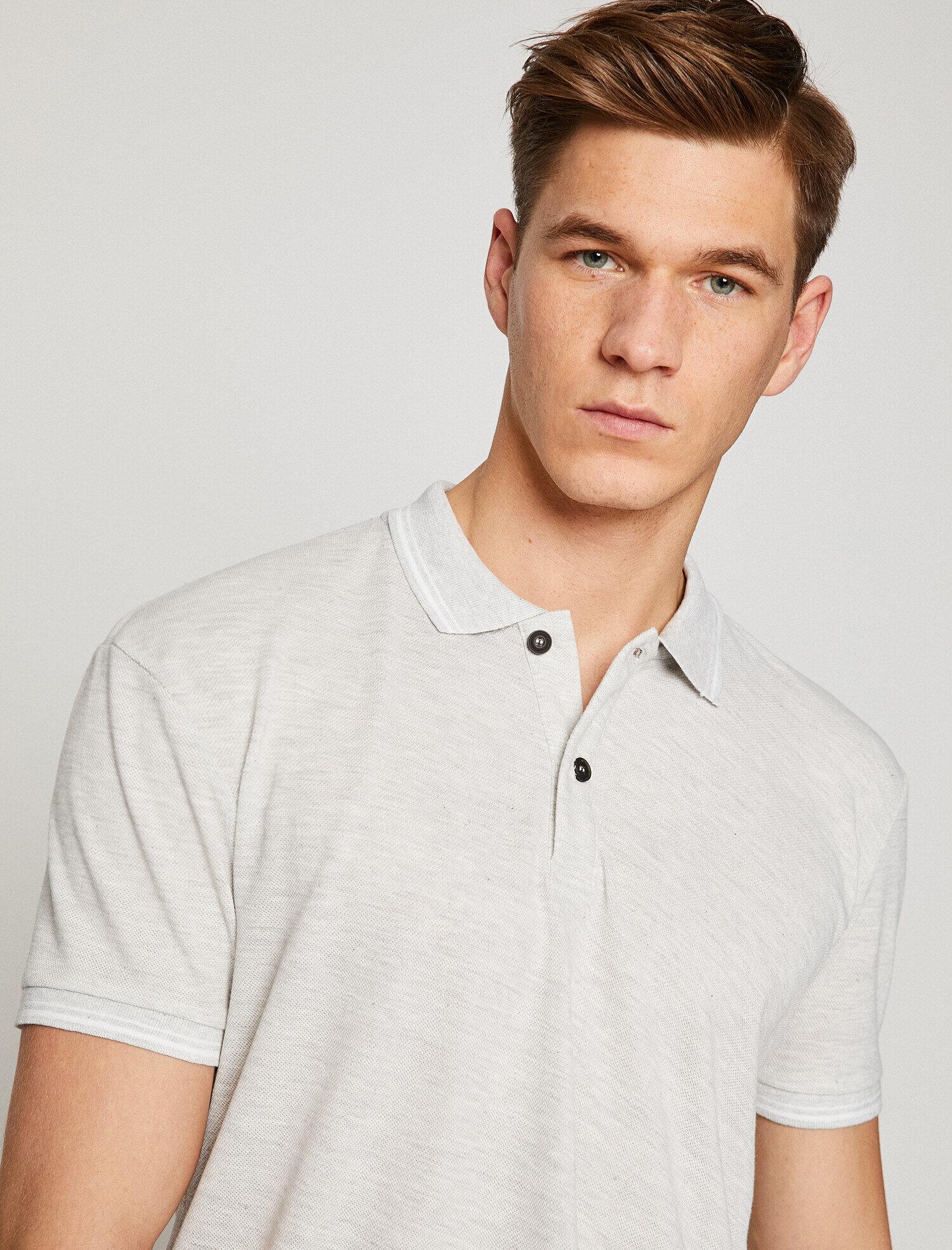 Koton Erkek Polo Yaka T-Shirt Gri Ürün Resmi