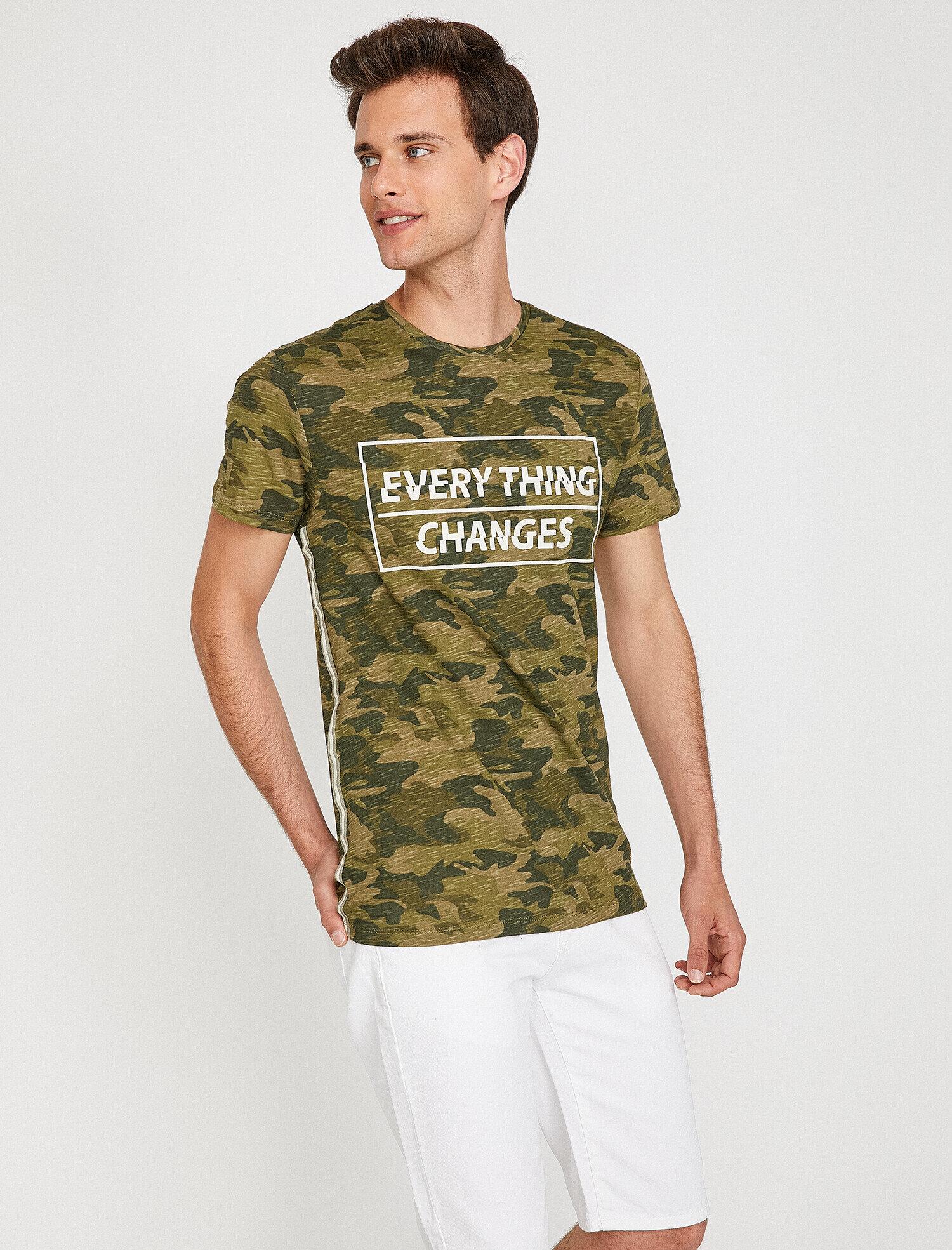 Koton Erkek Kamuflaj Desenli T-Shirt