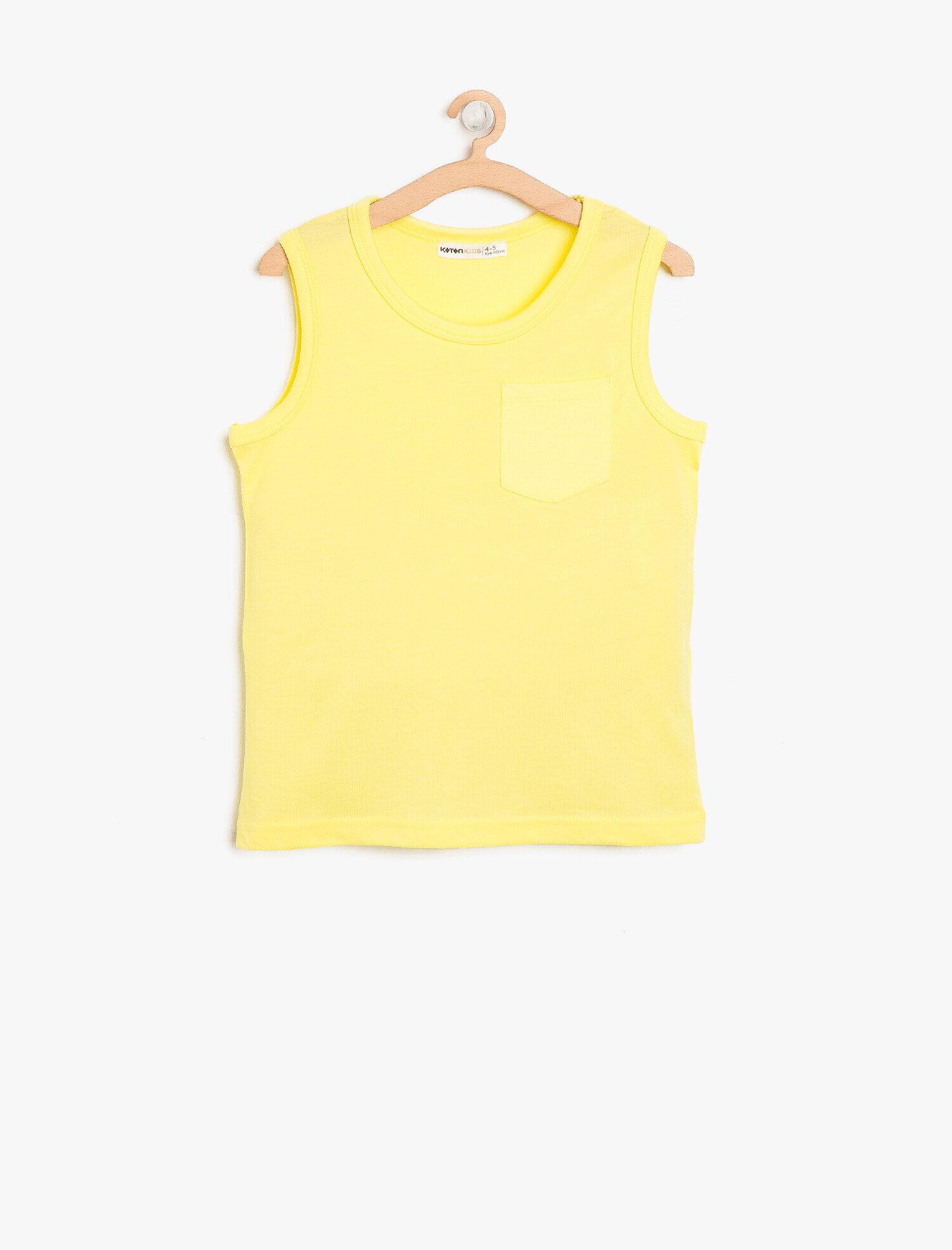 Koton Erkek Çocuk Cep Detayli Atlet Sarı Ürün Resmi