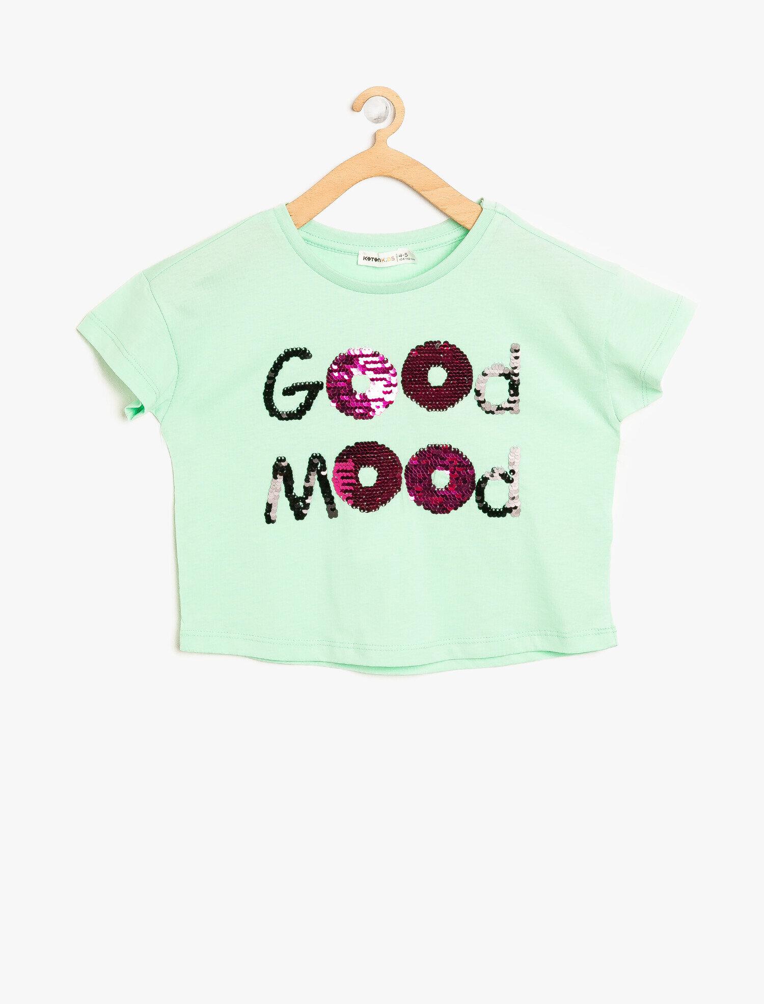 Koton Kız Çocuk Pul Detayli T-Shirt Yeşil Ürün Resmi