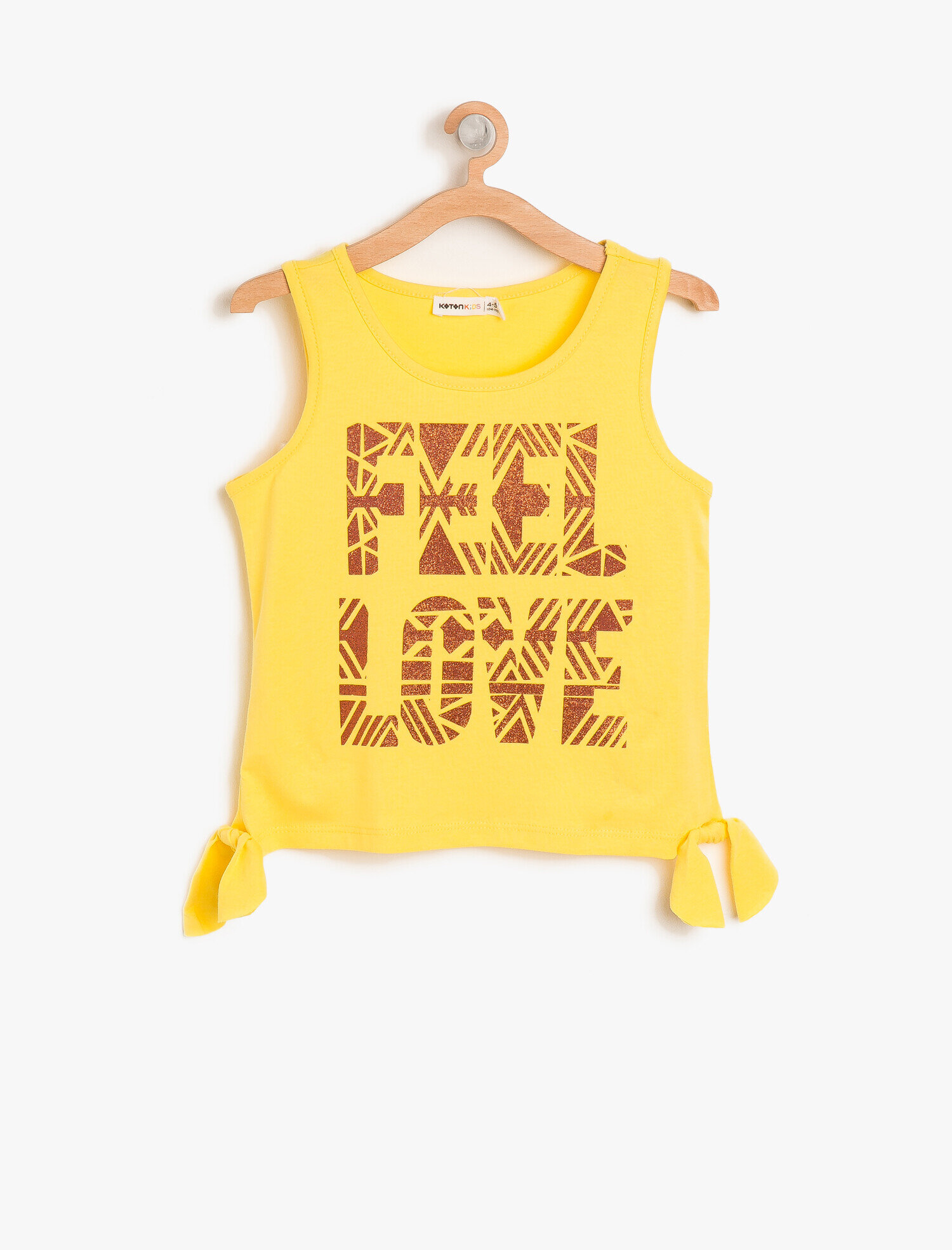 Koton Kız Çocuk Yazili Baskili Atlet Sarı Ürün Resmi