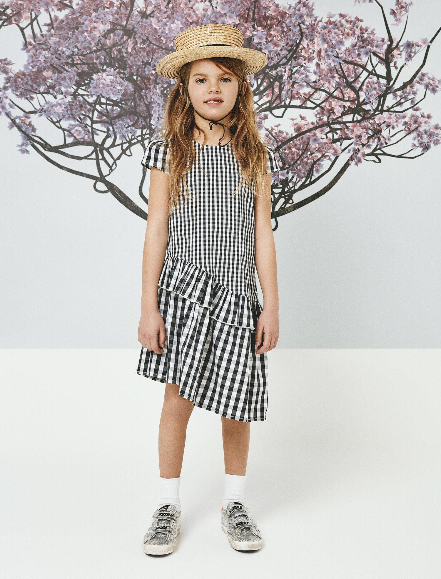 Koton Kiz Çocuk Kareli Elbise