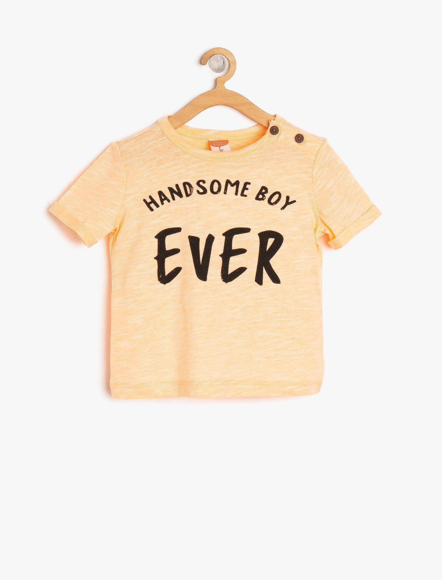 Koton Erkek Çocuk Yazili Baskili T-Shirt Kırmızı Ürün Resmi
