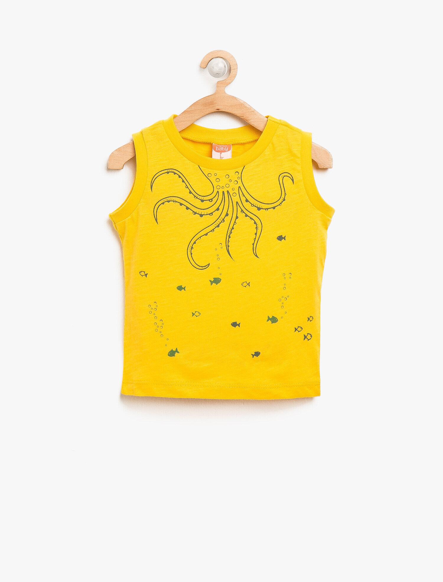 Koton Erkek Çocuk Baskili Atlet Sarı Ürün Resmi