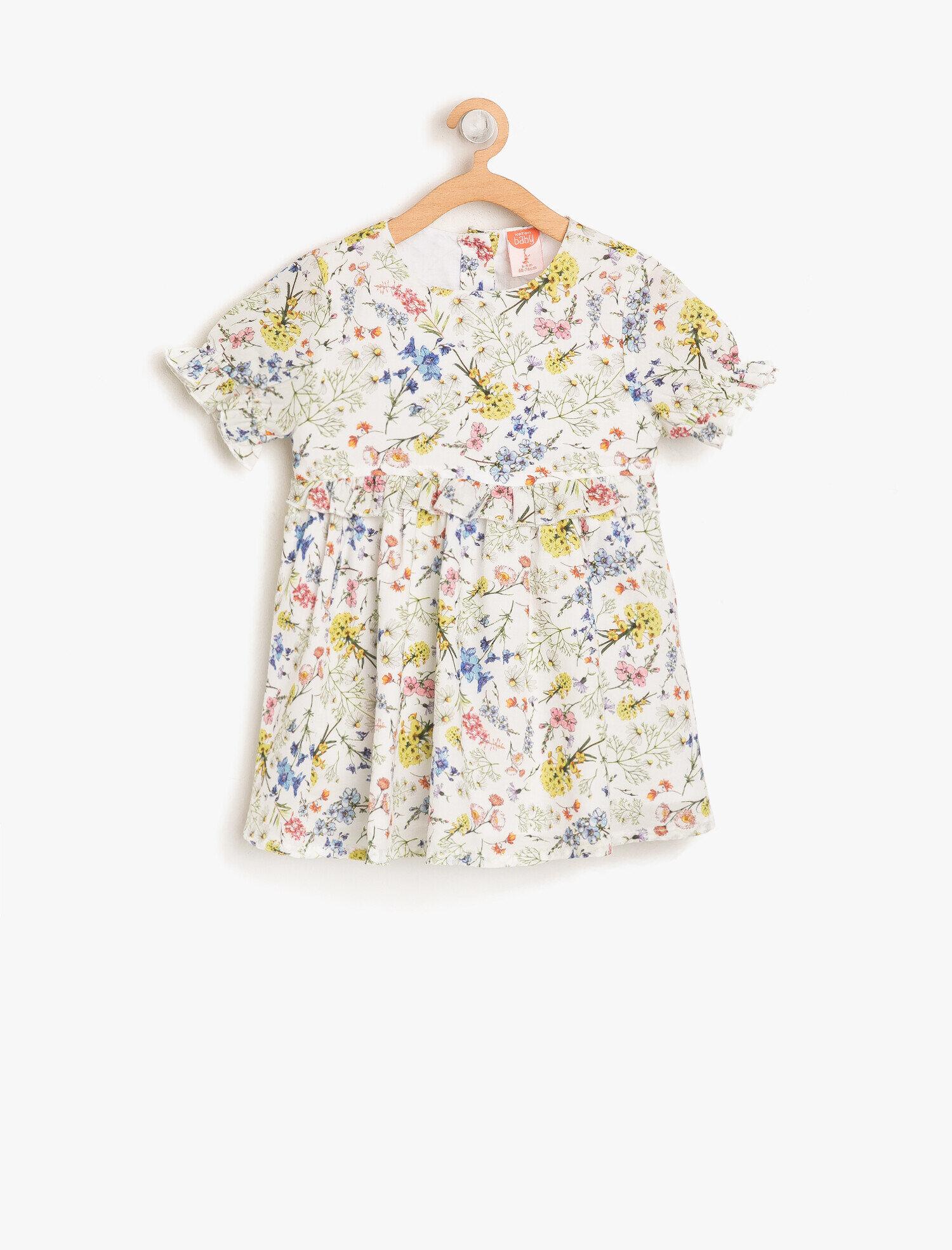 Koton Kiz Çocuk Çiçekli Elbise