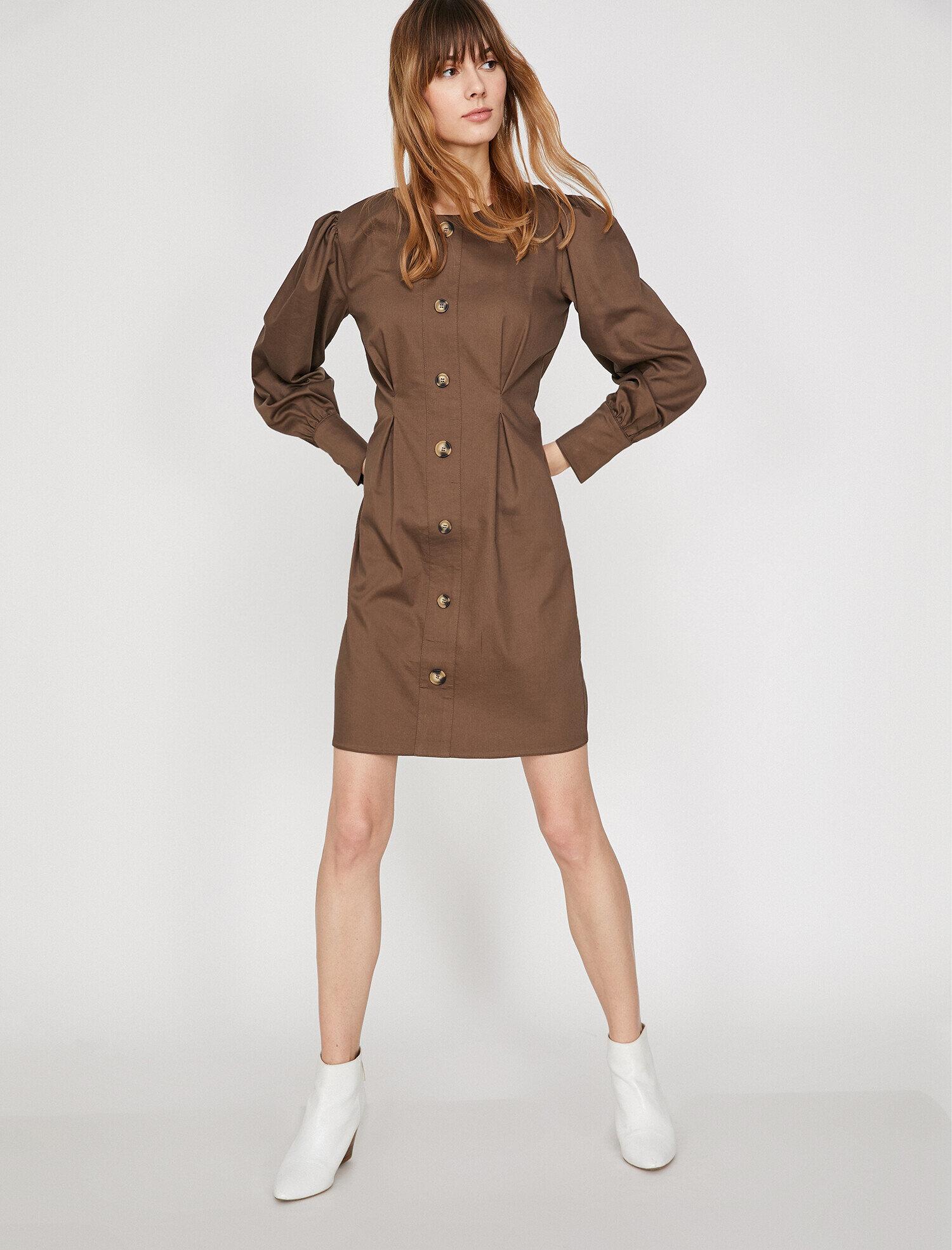 Koton Kadın Dügme Detayli Elbise Kahve Ürün Resmi