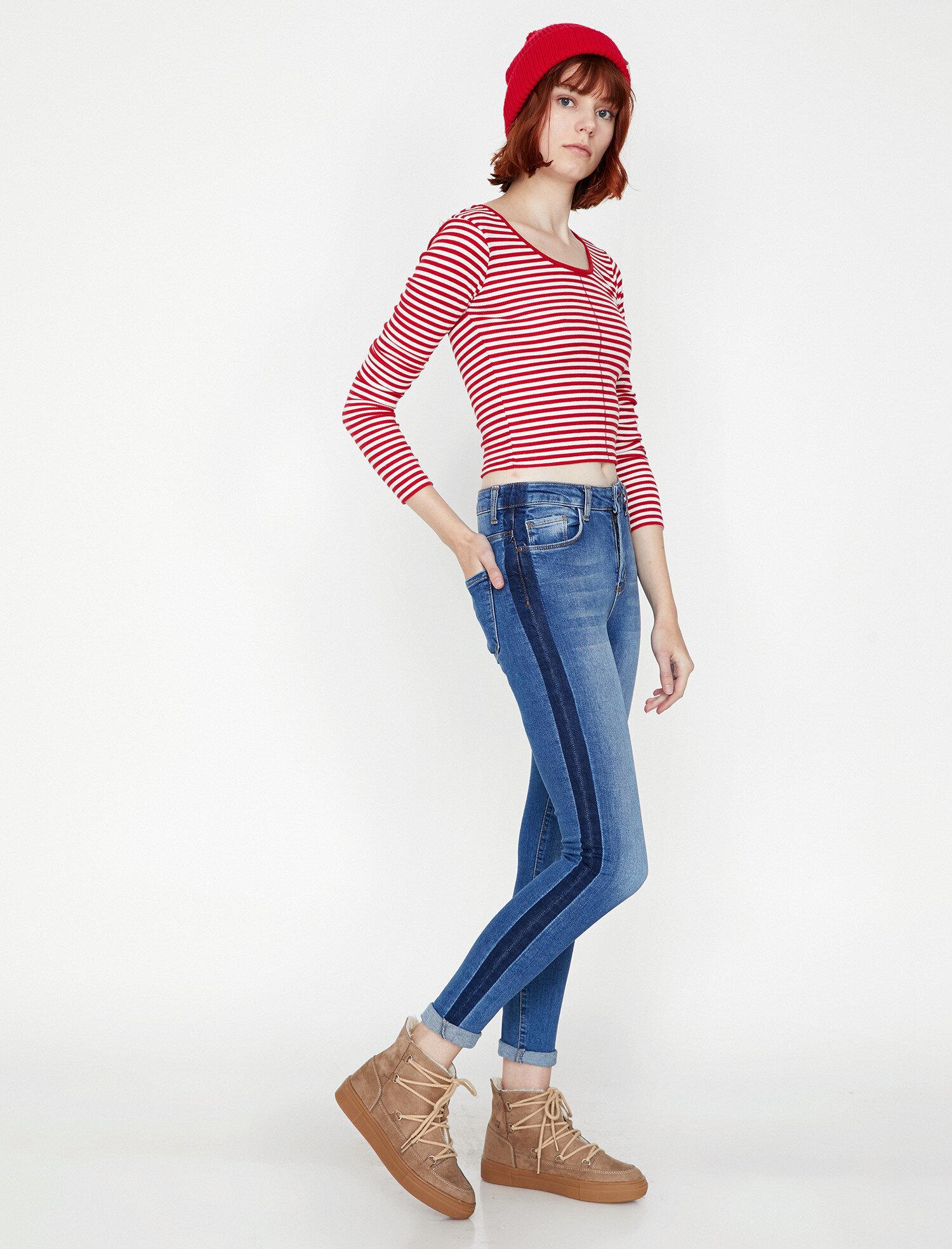 Koton Kadın Kate Jean Pantolon Mavi Ürün Resmi