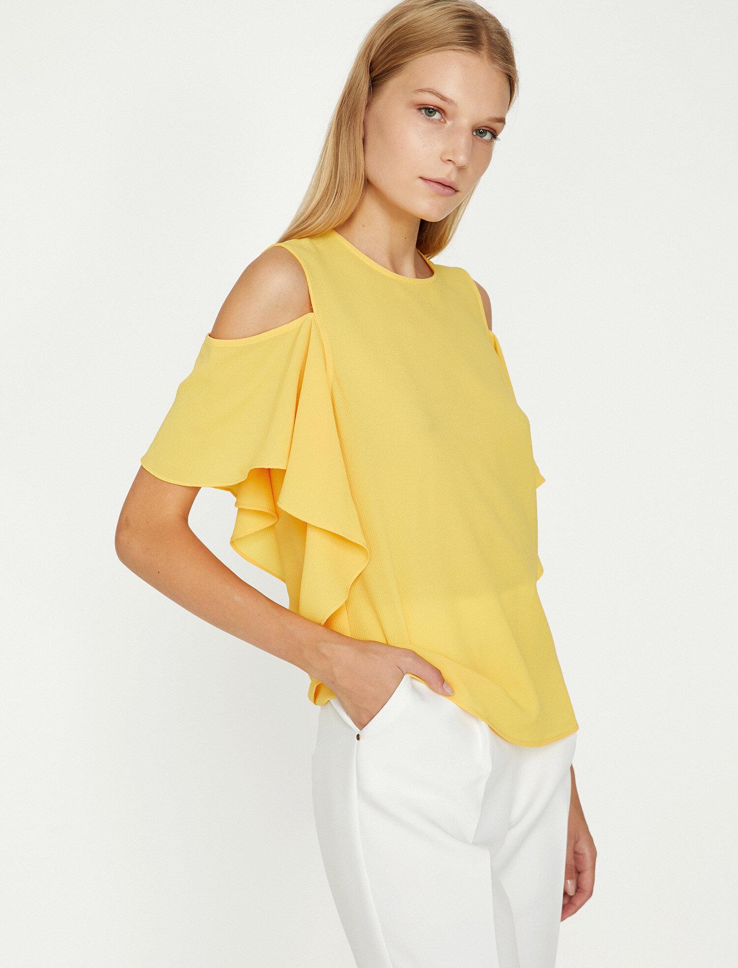Koton Kadın Omuz Detayli Bluz Sarı Ürün Resmi
