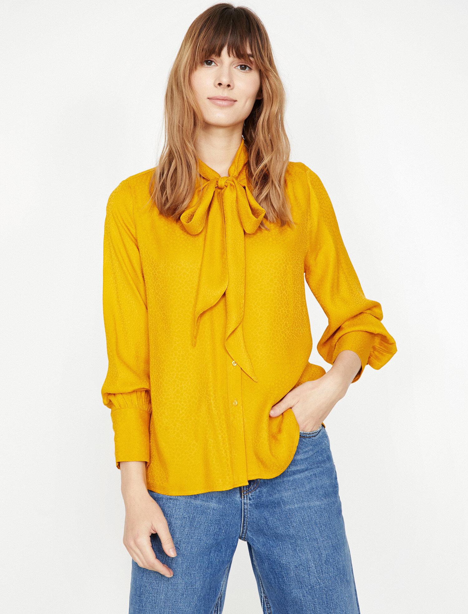 Koton Kadın Desenli Bluz Sarı Ürün Resmi