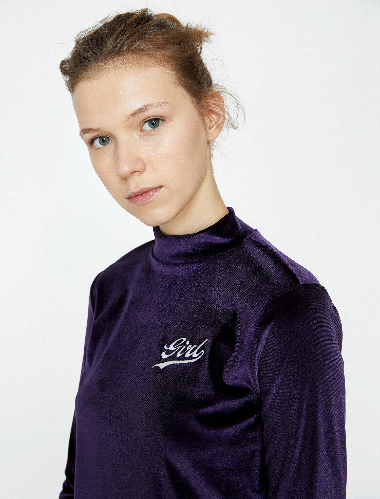Koton Kadın Kadife T-Shirt Mor Ürün Resmi