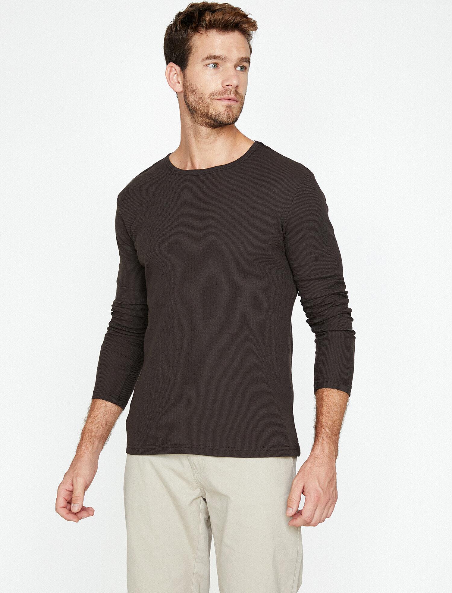 Koton Erkek Bisiklet Yaka T-Shirt Mor Ürün Resmi