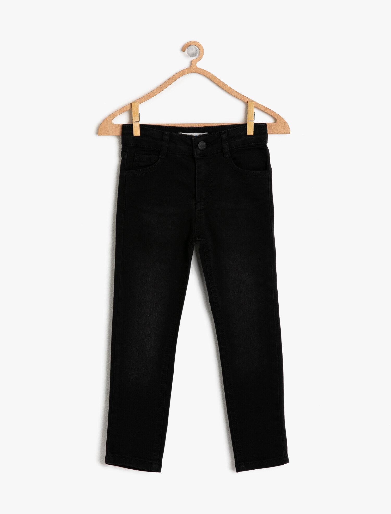 Koton Erkek Çocuk Dar Kesim Jean Pantolon Siyah Ürün Resmi