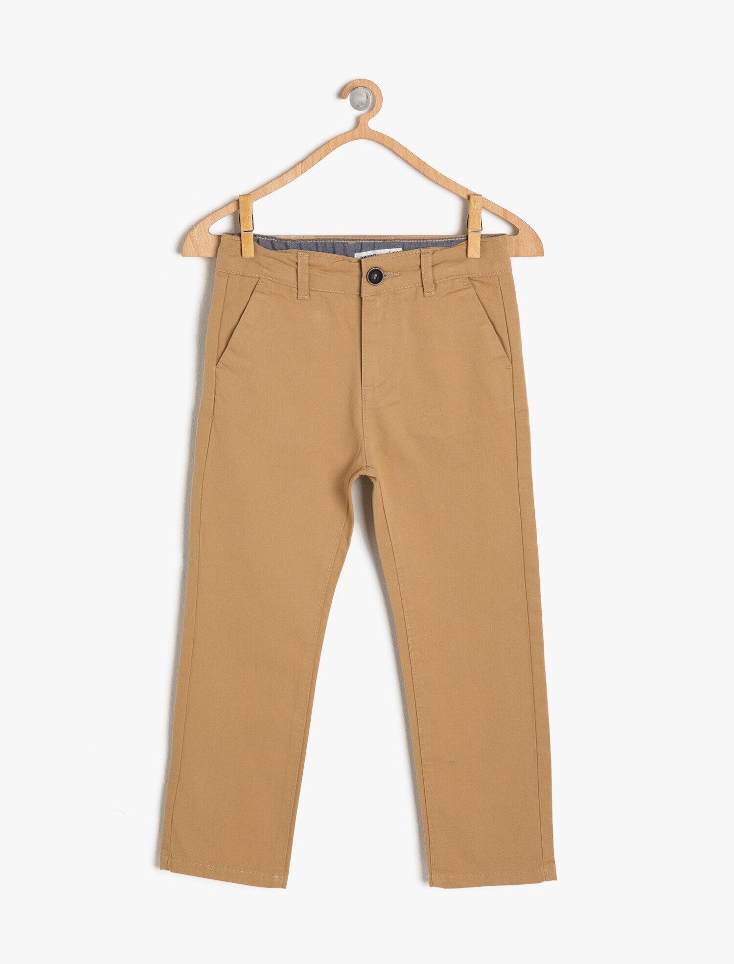Koton Erkek Çocuk Normal Bel Pantolon Ekru Ürün Resmi