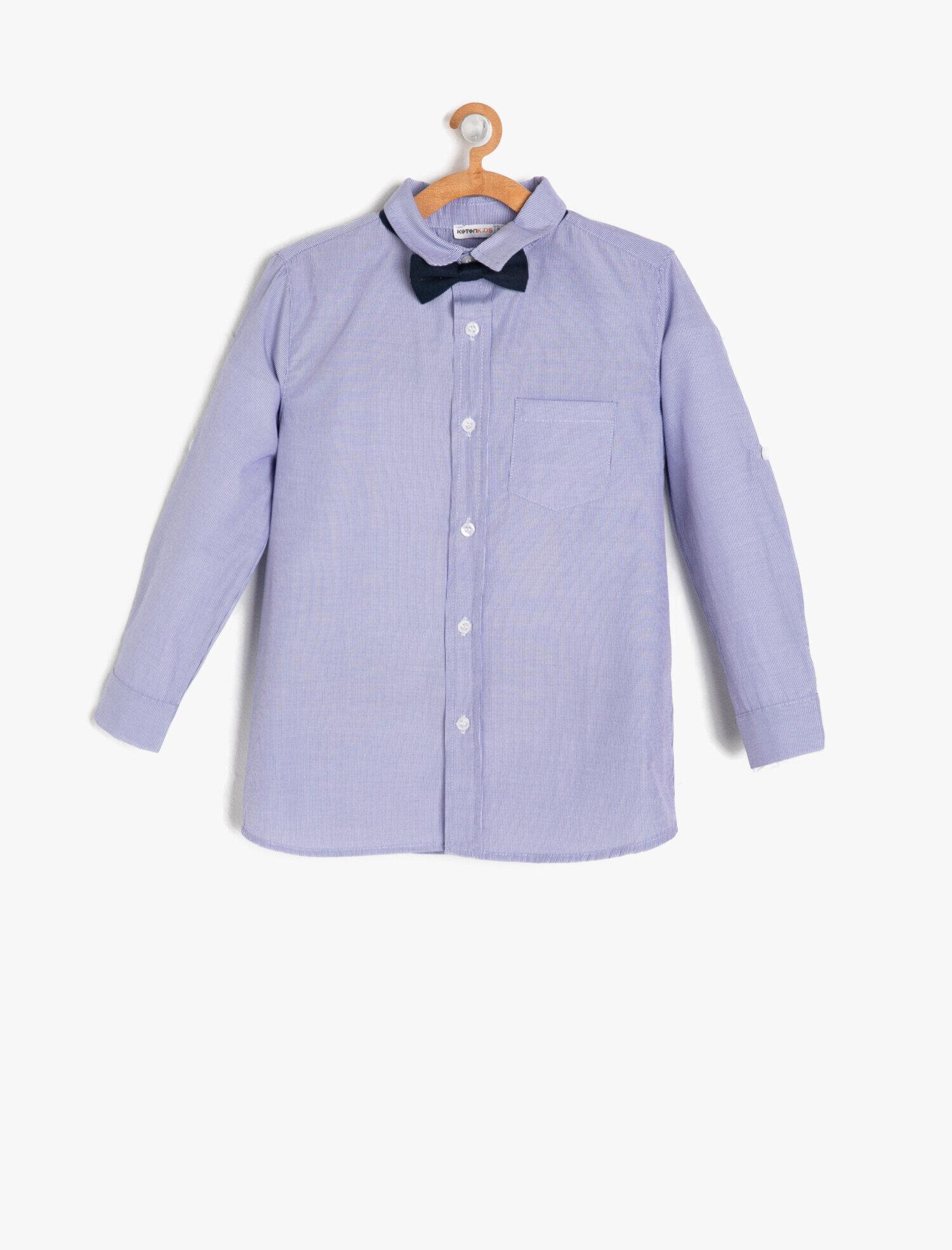 Koton Erkek Çocuk Papyon Detayli Gömlek Mavi Ürün Resmi